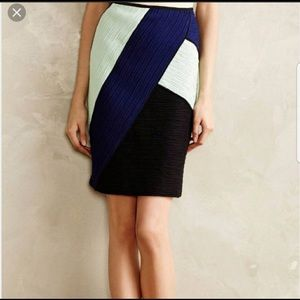 Anthropologie Maeve colorblock bodycon skirt